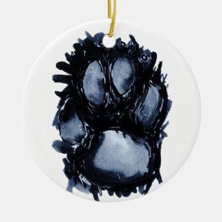 Ornamento De Cerâmica Pata do cão do Scottie
