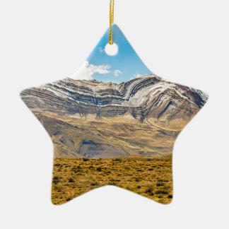 Ornamento De Cerâmica Patagonia nevado Argentina das montanhas de Andes