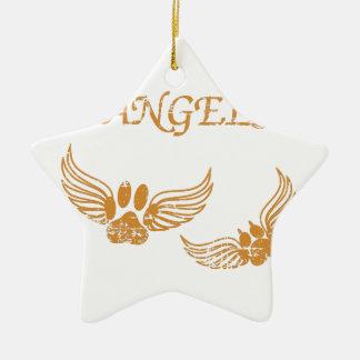Ornamento De Cerâmica Patas afligidas do animal de estimação do anjo