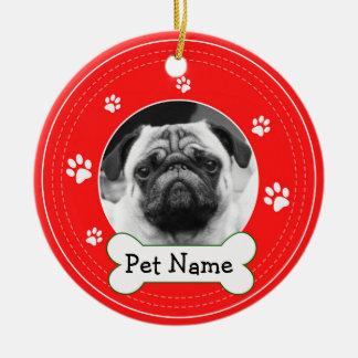 Ornamento De Cerâmica Patas do cão de estimação do Pug