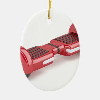 Ornamento De Cerâmica Patinete deequilíbrio vermelho