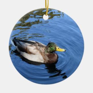 Ornamento De Cerâmica Pato conservador do pato selvagem da água do