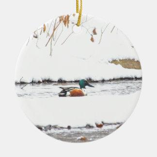 Ornamento De Cerâmica Pato do inverno