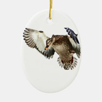 Ornamento De Cerâmica Pato em vôo