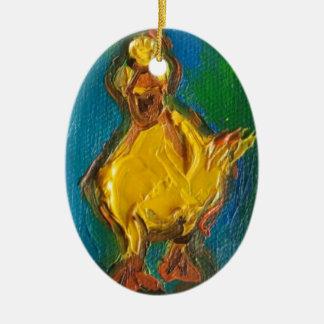 Ornamento De Cerâmica Pato feliz