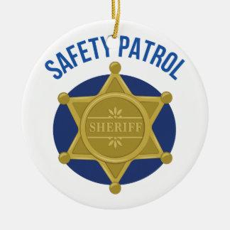 Ornamento De Cerâmica Patrulha da segurança
