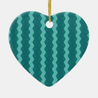 Ornamento De Cerâmica Pattern Blue Stripes - Linhas zigzag