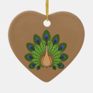 Ornamento De Cerâmica Pavão 1