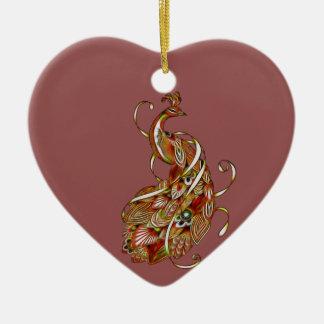 Ornamento De Cerâmica Pavão 2b