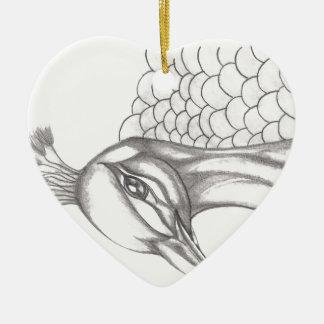 Ornamento De Cerâmica Pavão bonito