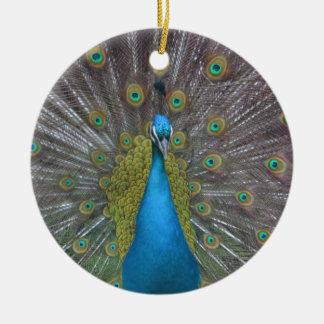 Ornamento De Cerâmica Pavão impressionante