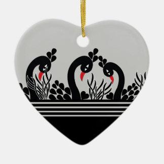 Ornamento De Cerâmica pavão preto