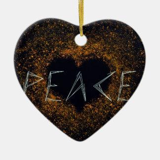 Ornamento De Cerâmica paz-amor