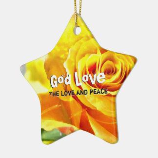 Ornamento De Cerâmica Paz do amor do deus