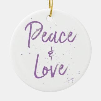 Ornamento De Cerâmica Paz-e-Amor-Roxo