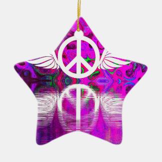 Ornamento De Cerâmica Paz e esperança da harmonia para o mundo humano
