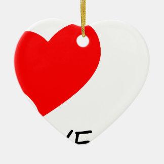 Ornamento De Cerâmica paz love10