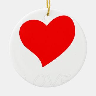 Ornamento De Cerâmica paz love21