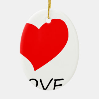 Ornamento De Cerâmica paz love22