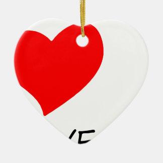 Ornamento De Cerâmica paz love24