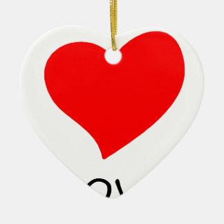 Ornamento De Cerâmica paz love26