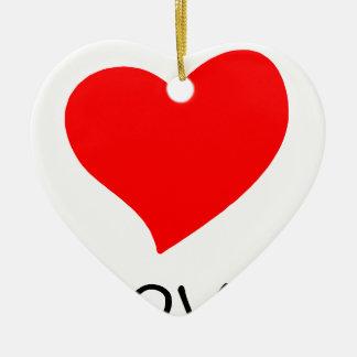 Ornamento De Cerâmica paz love29