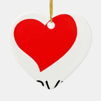 Ornamento De Cerâmica paz love36