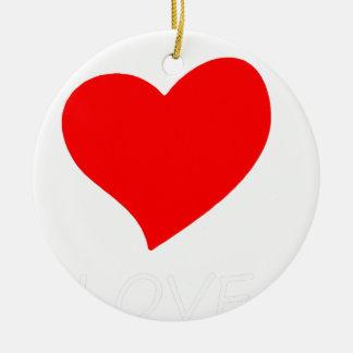Ornamento De Cerâmica paz love4