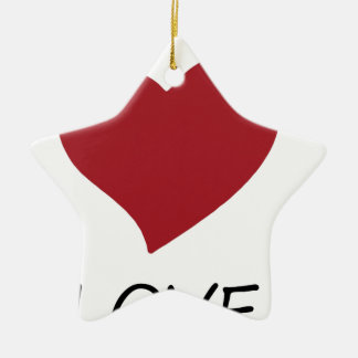 Ornamento De Cerâmica paz love48