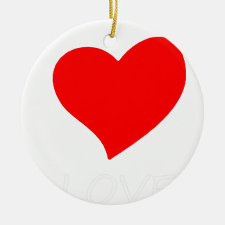 Ornamento De Cerâmica paz love6
