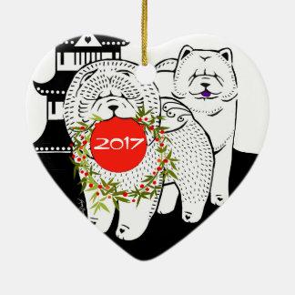 Ornamento De Cerâmica PAZ NA TERRA - coração da comida