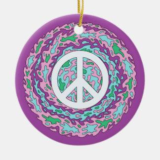 Ornamento De Cerâmica Paz psicadélico