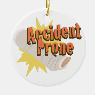 Ornamento De Cerâmica Pé propenso a los accidentes