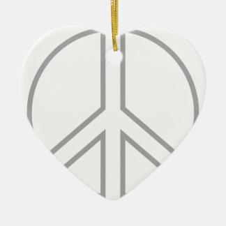 Ornamento De Cerâmica peace13