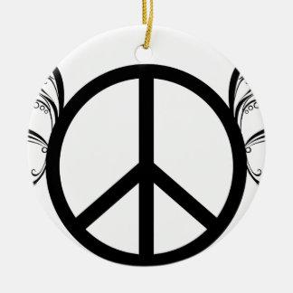 Ornamento De Cerâmica peace2