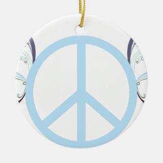 Ornamento De Cerâmica peace3