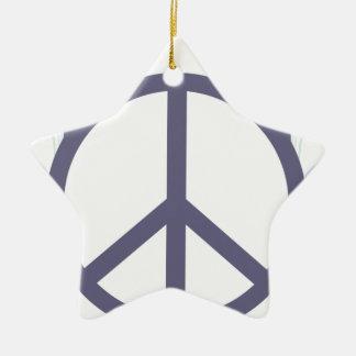 Ornamento De Cerâmica peace4