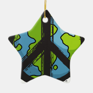 Ornamento De Cerâmica peace5