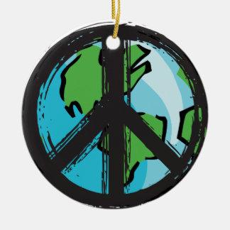 Ornamento De Cerâmica peace7