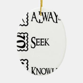 Ornamento De Cerâmica Peça, procure sempre o conhecimento