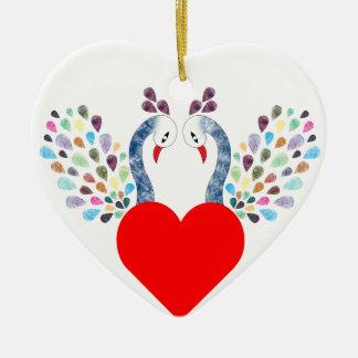 Ornamento De Cerâmica pecock do amor