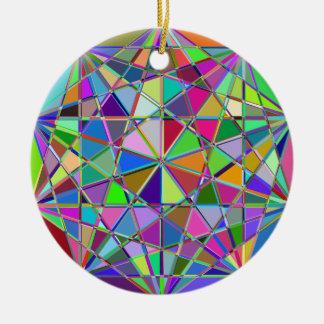 Ornamento De Cerâmica Pedra de gema tirada Kaleidescope colorida