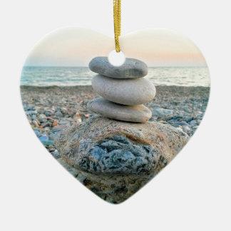 Ornamento De Cerâmica Pedras da praia do zen