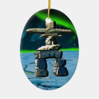 Ornamento De Cerâmica Pedras do espírito do nativo americano de Inukshuk