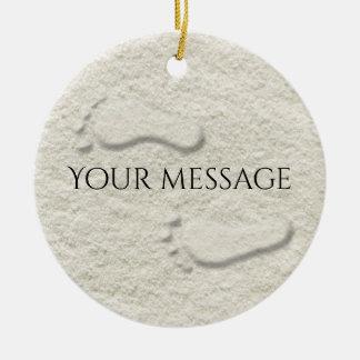 Ornamento De Cerâmica Pegada/pegadas feitas sob encomenda no design do