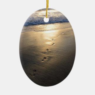 Ornamento De Cerâmica Pegadas de desaparecimento
