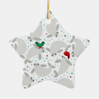 Ornamento De Cerâmica peixe-boi do Natal