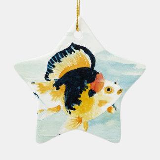 Ornamento De Cerâmica Peixe dourado
