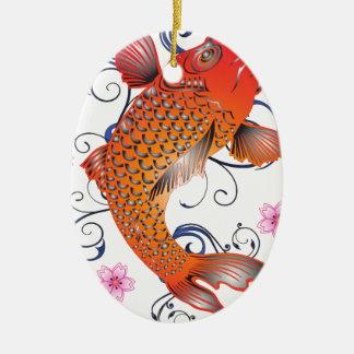 Ornamento De Cerâmica Peixes
