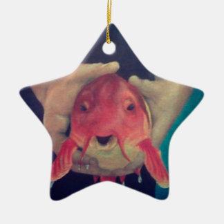 Ornamento De Cerâmica Peixes abstratos